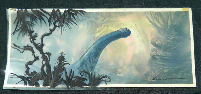File:The Land Before Time 1988 Original SIGNED Hand Painted Background DON BLUTH -SH1.jpg