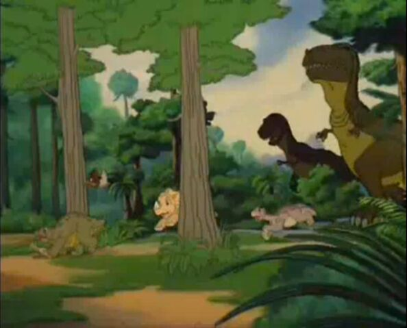 File:Sharpteeth chase Littlefoot and friends.jpg