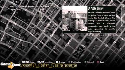 LA Noire - Star Map Achievement Trophy Walkthrough PT4 - All 30 Landmarks