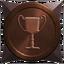 Generic anniversary bronze trophy