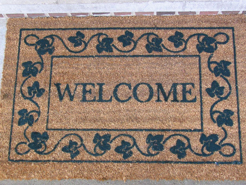 File:New welcome mat from my parents.jpg