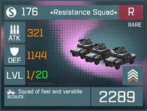 Resistance Squad R Lv1 Front