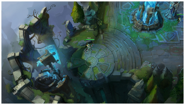 Summoner's Rift Update Environment Blue Base