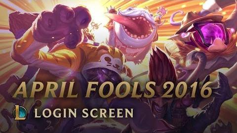 April Fools 2016 - Login Screen
