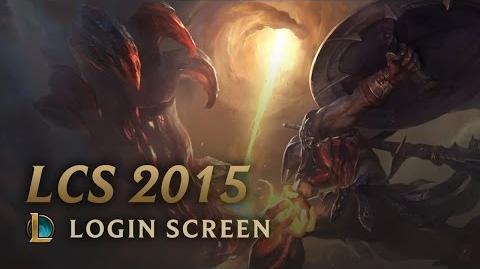 2015 Season - Login Screen