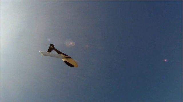 """Premier vol de """"The Poisson"""", à Pech-David le 30 janvier 2012"""
