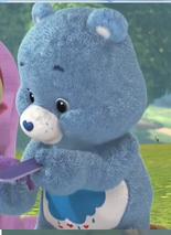 Grumpy bear left-handed