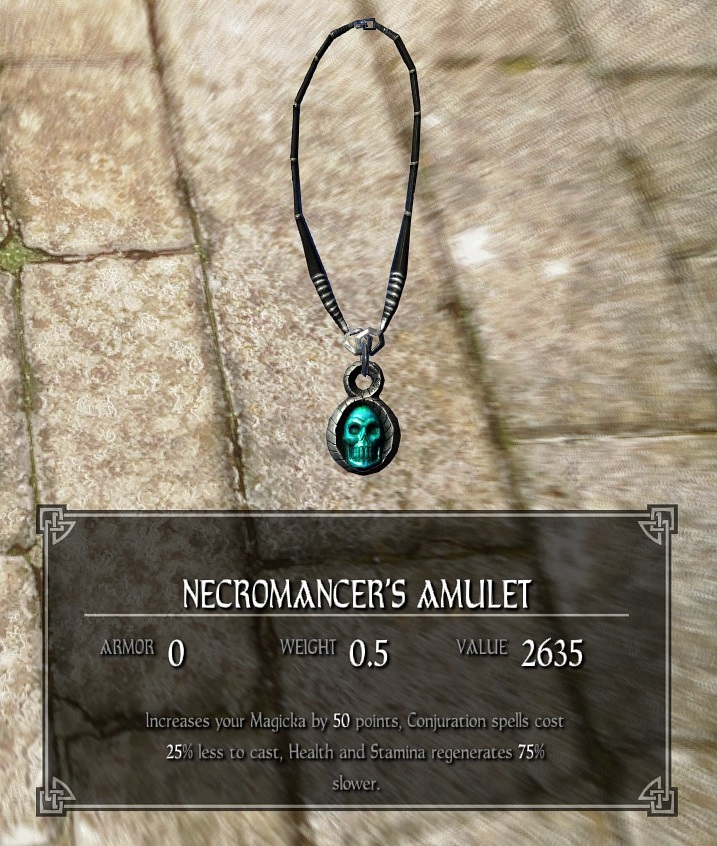 How to get the necromancer amulet in skyrim