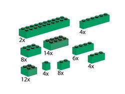 5215-Bricks Assorted, Green
