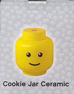 4541569 Cookie Jar, Ceramic Minifig Head