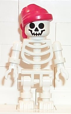 Skeleton with Standard Skull, Red Bandana