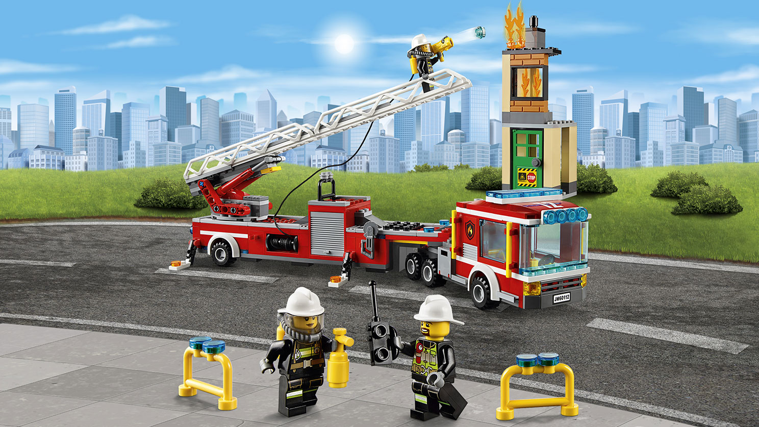 60112 le grand camion de pompiers wiki lego fandom powered by wikia - Lego city police camion ...