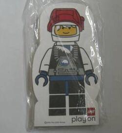 4229643-Memo Pad Minifig - (V) Spaceman