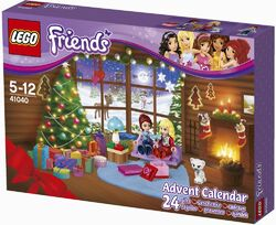 LEGO Friends Advent Calendar 2014 box front -41040 largest size right side view
