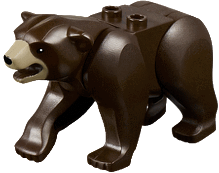 LEGO BROWN BEAR MINIFIGURE RARE ANIMAL CREATURE GRIZZLY BEAR