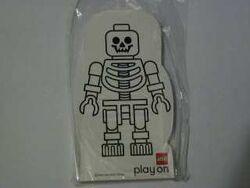 4229640-Memo Pad Minifig - (S) Skeleton