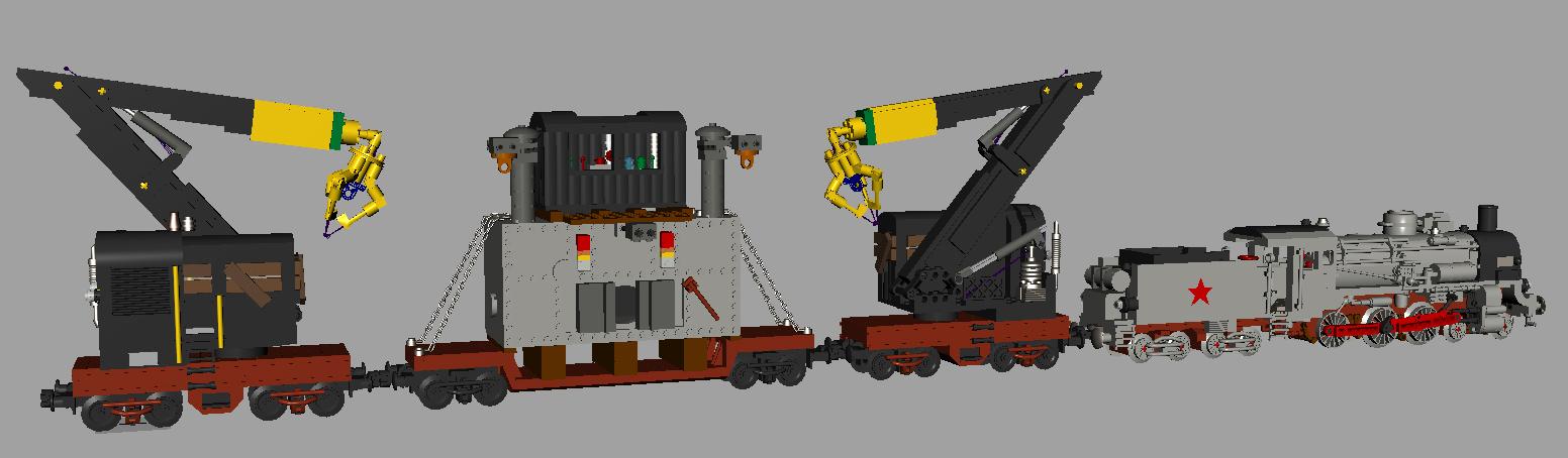 Lego Crane Train Crane Train