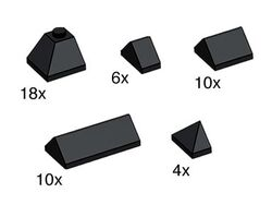 10160-Black Ridge Roof Tiles
