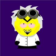 The Crazy Scientist south park style