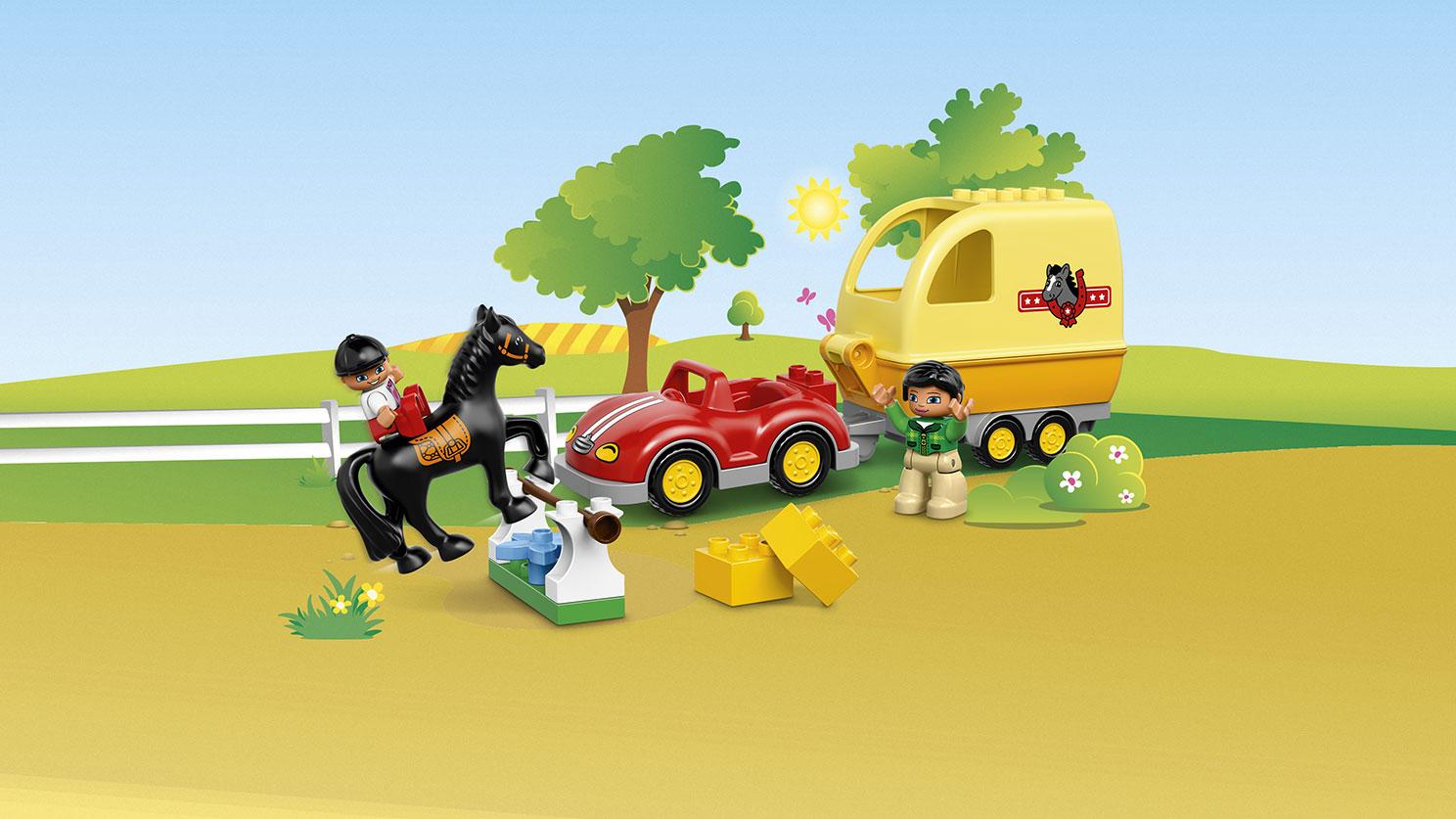 LEGO DUPLO 10807 La remorque à chevaux  Lego Duplo  Lego  Construction