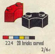 224 Curved Bricks