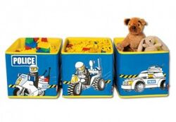 SD471blue Connectable Toy Bins Blue Police