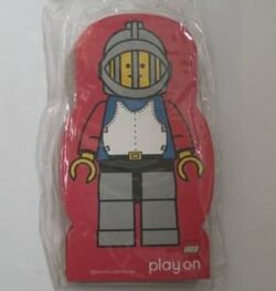 4229642-Memo Pad Minifig - (U) Castle Breastplate