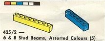 425.6 & 8 Stud Beams, Assorted Colours