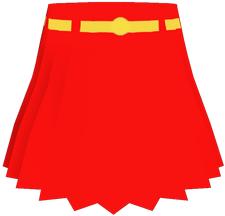 Supergirl Alpha Skirt Red