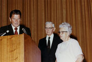 Ronald Reagan with Walter and Cordelia Knott