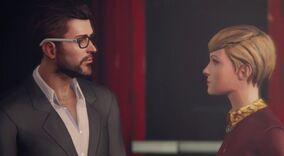 Victoria flirts with Mr. Jefferson