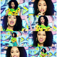 "Leigh-Anne Pinnock's curly afro hairstyle in Little Mix's ""Wings"" music video"