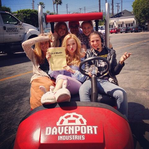 File:Cast and crew on go cart.jpg