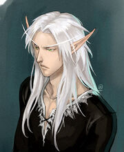 Blood elf horde long hair pointy ears white hair world of warcraft
