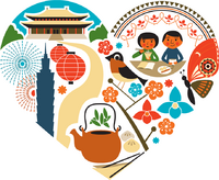 Taiwan The Heart of Asia heart icon