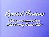 Walt Disney Studios Home Entertainment Buena Vista Special Previews Logo 1992 a