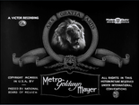 Metro Goldwyn Mayer Logo 1926