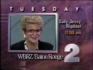 WBRZ 2 Sally Jessy Raphael promo 1989