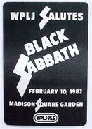 WPLJ-FM's 95.5's Salutes Black Sabbath, Live In Concert At Madison Square Garden Promo For February 10, 1982