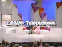 Lorimar-Telepictures 1986 logo (Love Connection - superimposed logo problems)