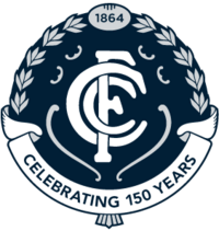 Carlton Football Club 150th anniversary logo