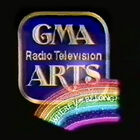 GMA Radio Television arts. with Where you belong slogan in rainbow in GMA 1992 SID