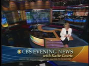 CBS News' CBS Evening News With Katie Couric Video Close From Tuesday Evening, September 5, 2006