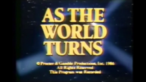 As The World Turns Close From December 26, 1986