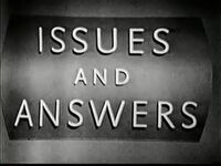 Issues and Answers 1960s
