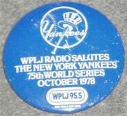 WPLJ-FM's 95.5's Salutes The 1978 New York Yankees In The 75th World Series Promo For October 1978