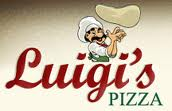 Luigi's Pizza Logo with Pizza Parlor