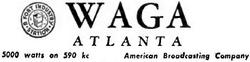 WAGA Atlanta 1946