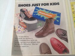 Nickelodeon Shoes 1988 Ad