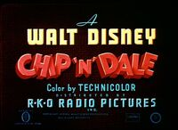 Chip n dale rko opening title card